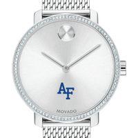USAFA Women's Movado Bold with Crystal Bezel & Mesh Bracelet
