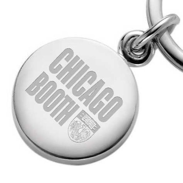 Chicago Booth Sterling Silver Insignia Key Ring - Image 2