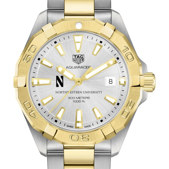 Northwestern University Men's TAG Heuer Two-Tone Aquaracer