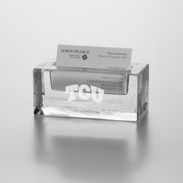 TCU Glass Cardholder by Simon Pearce