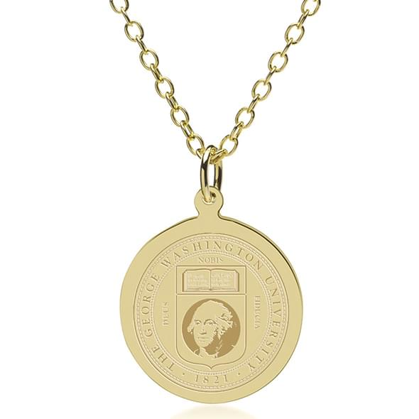 George Washington 18K Gold Pendant & Chain