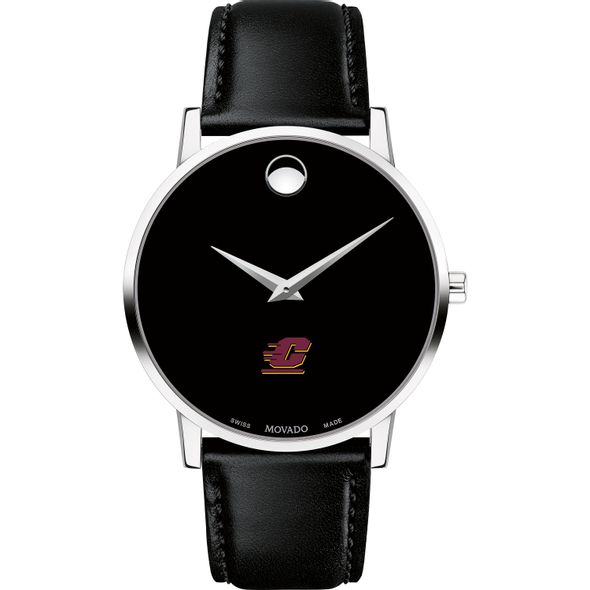 Central Michigan Men's Movado Museum with Leather Strap - Image 2