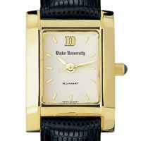 Duke Women's Gold Quad Watch with Leather Strap