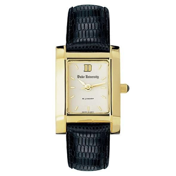 Duke Women's Gold Quad Watch with Leather Strap - Image 2