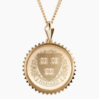 Harvard 14K Gold Sunburst Necklace by Kyle Cavan