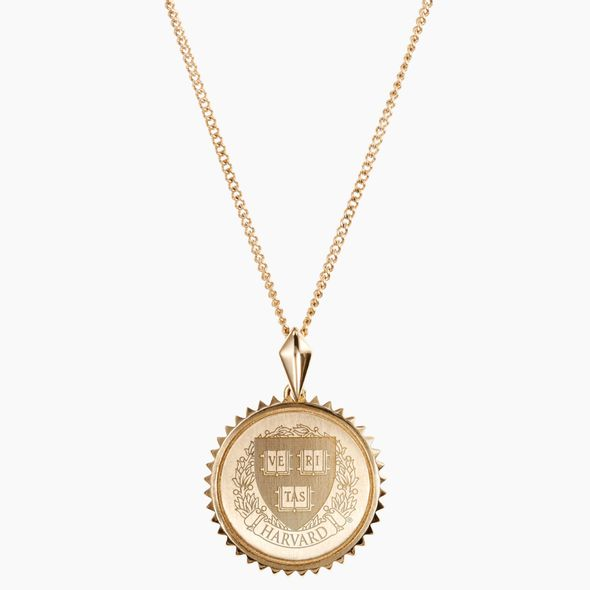 Harvard 14K Gold Sunburst Necklace by Kyle Cavan - Image 2
