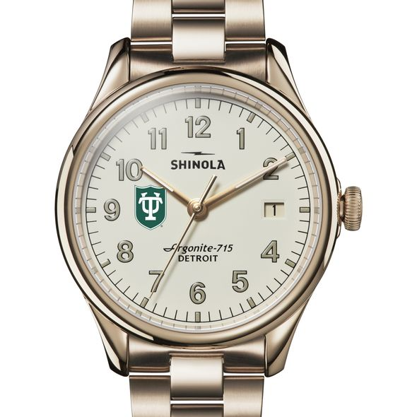 Tulane Shinola Watch, The Vinton 38mm Ivory Dial - Image 1