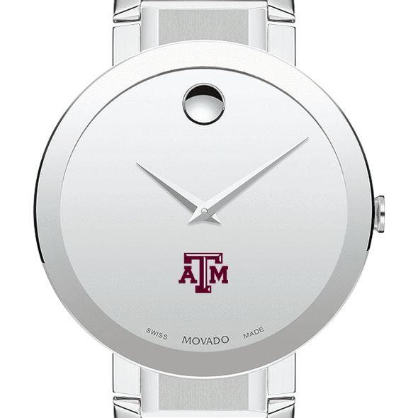 Texas A&M University Men's Movado Sapphire Museum with Bracelet