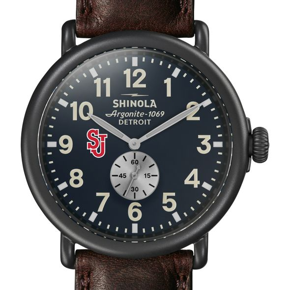 St. John's Shinola Watch, The Runwell 47mm Midnight Blue Dial - Image 1