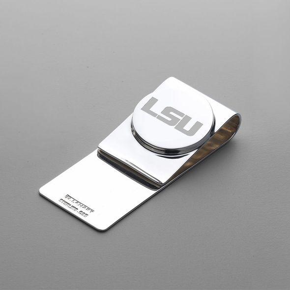 LSU Sterling Silver Money Clip - Image 1