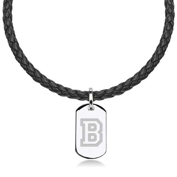 Bucknell University Leather Necklace with Sterling Dog Tag