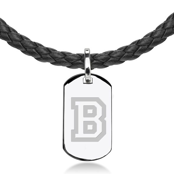 Bucknell University Leather Necklace with Sterling Dog Tag - Image 2