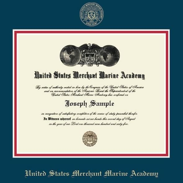 US Merchant Marine Academy Diploma Frame, the Fidelitas - Image 2