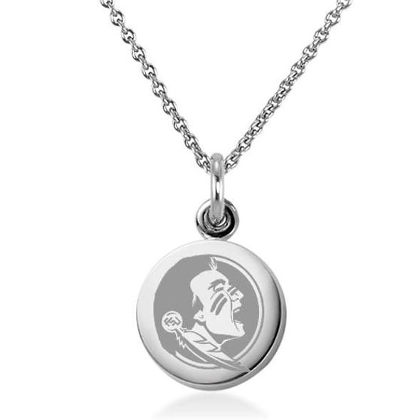 Florida State University Necklace with Charm in Sterling Silver - Image 1