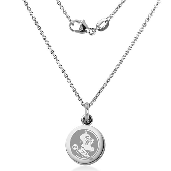 Florida State University Necklace with Charm in Sterling Silver - Image 2