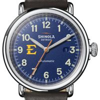 East Tennessee State Shinola Watch, The Runwell Automatic 45mm Royal Blue Dial