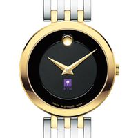 New York University Women's Movado Esparanza Two-Tone Museum with Bracelet