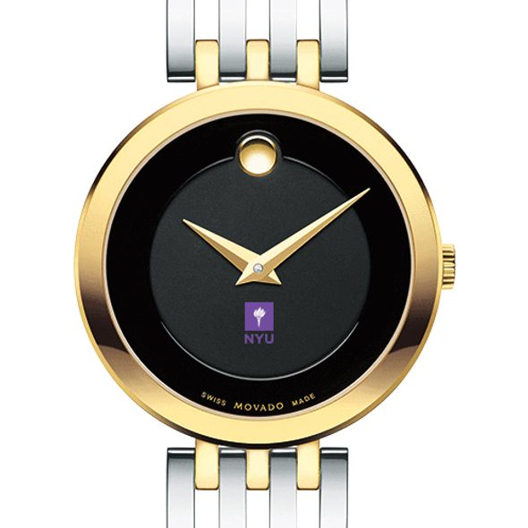 New York University Women's Movado Esparanza Two-Tone Museum with Bracelet - Image 1