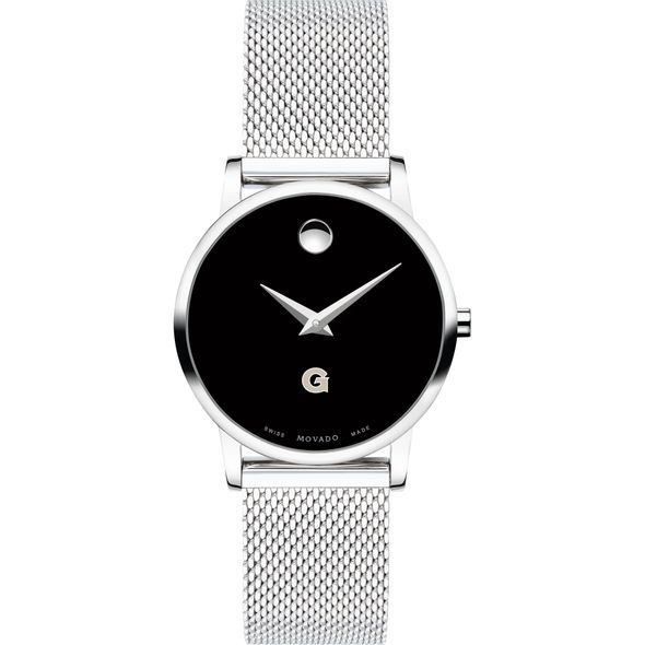 Georgetown University Women's Movado Museum with Mesh Bracelet - Image 2