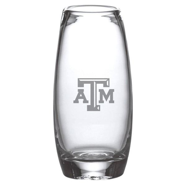 Texas A&M Glass Addison Vase by Simon Pearce