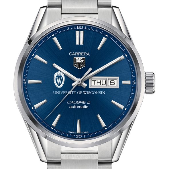 University of Wisconsin Men's TAG Heuer Carrera with Day-Date