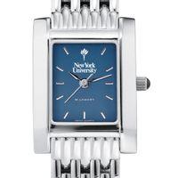 NYU Women's Blue Quad Watch with Bracelet