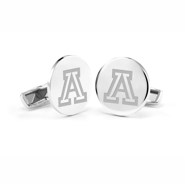 University of Arizona Cufflinks in Sterling Silver