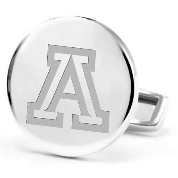 University of Arizona Cufflinks in Sterling Silver - Image 2