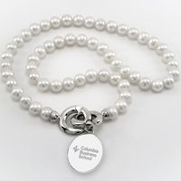 Columbia Business Pearl Necklace with Sterling Silver Charm