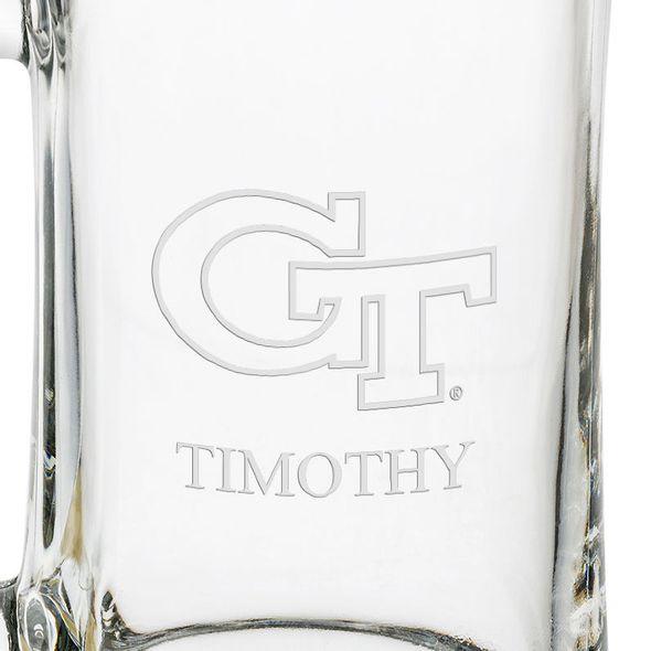 Georgia Tech 25 oz Glass Stein - Image 3