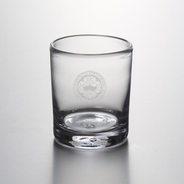 Boston University Double Old Fashioned Glass by Simon Pearce - Image 1