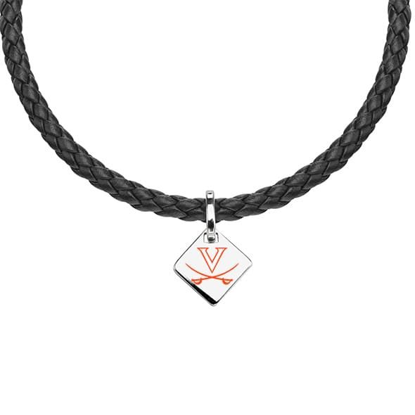 Virginia Leather Necklace with Sterling Silver Tag