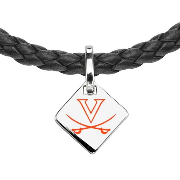 Virginia Leather Necklace with Sterling Silver Tag - Image 2