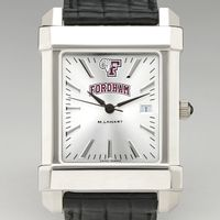 Fordham Men's Collegiate Watch with Leather Strap