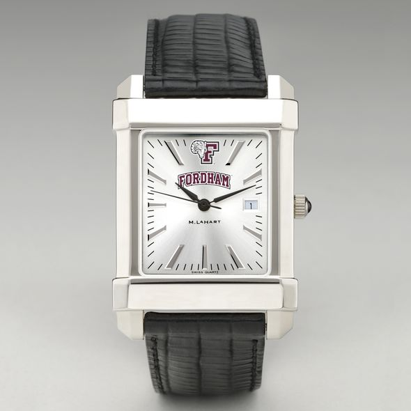 Fordham Men's Collegiate Watch with Leather Strap - Image 2