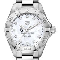 Ball State Women's TAG Heuer Steel Aquaracer with MOP Diamond Dial