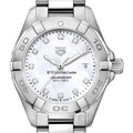 Texas McCombs Women's TAG Heuer Steel Aquaracer with MOP Diamond Dial - Image 1