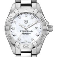 Texas McCombs Women's TAG Heuer Steel Aquaracer with MOP Diamond Dial