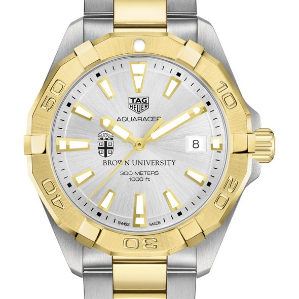 Brown University Men's TAG Heuer Two-Tone Aquaracer - Image 1