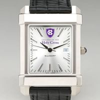 Holy Cross Men's Collegiate Watch with Leather Strap