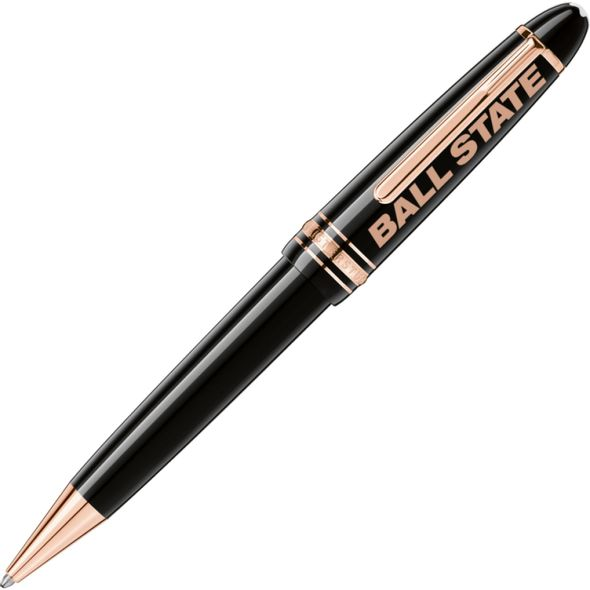 Ball State Montblanc Meisterstück LeGrand Ballpoint Pen in Red Gold - Image 1