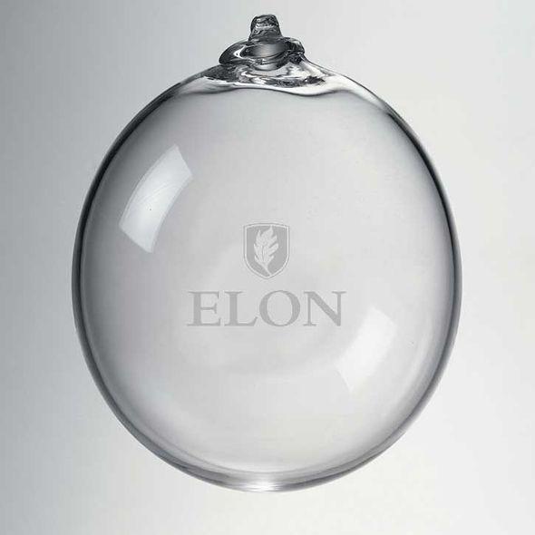 Elon Glass Ornament by Simon Pearce - Image 2