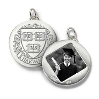 Harvard Monica Rich Kosann Round Charm in Silver