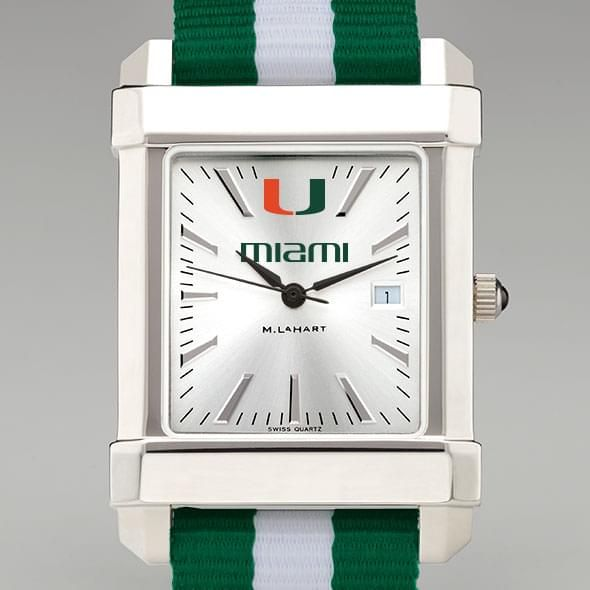 University of Miami Collegiate Watch with NATO Strap for Men - Image 1