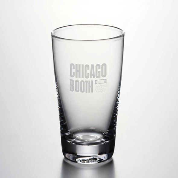 Chicago Booth Ascutney Pint Glass by Simon Pearce