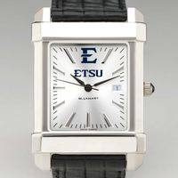 East Tennessee State University Men's Collegiate Watch with Leather Strap