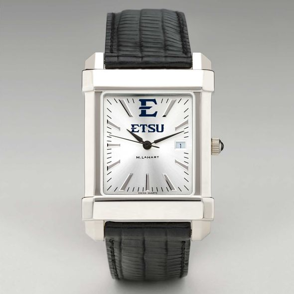 East Tennessee State University Men's Collegiate Watch with Leather Strap - Image 2