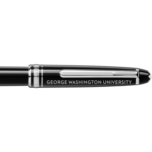 George Washington University Montblanc Meisterstück Classique Rollerball Pen in Platinum - Image 2