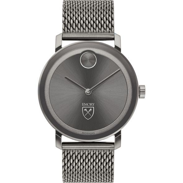 Emory University Men's Movado BOLD Gunmetal Grey with Mesh Bracelet - Image 2