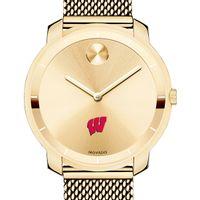 University of Wisconsin Women's Movado Gold Bold 36